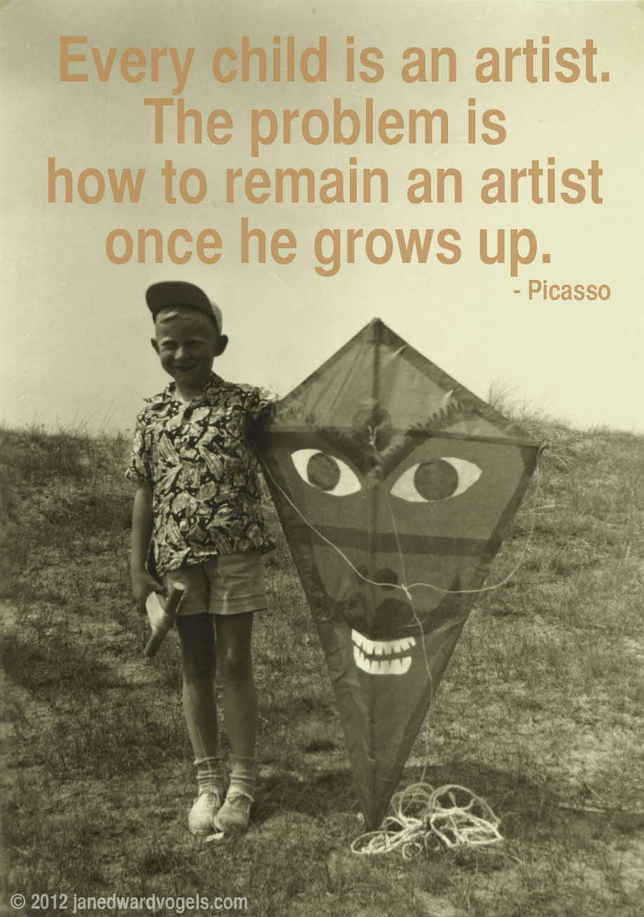 Pablo Picasso, quote, Jan Edward Vogels