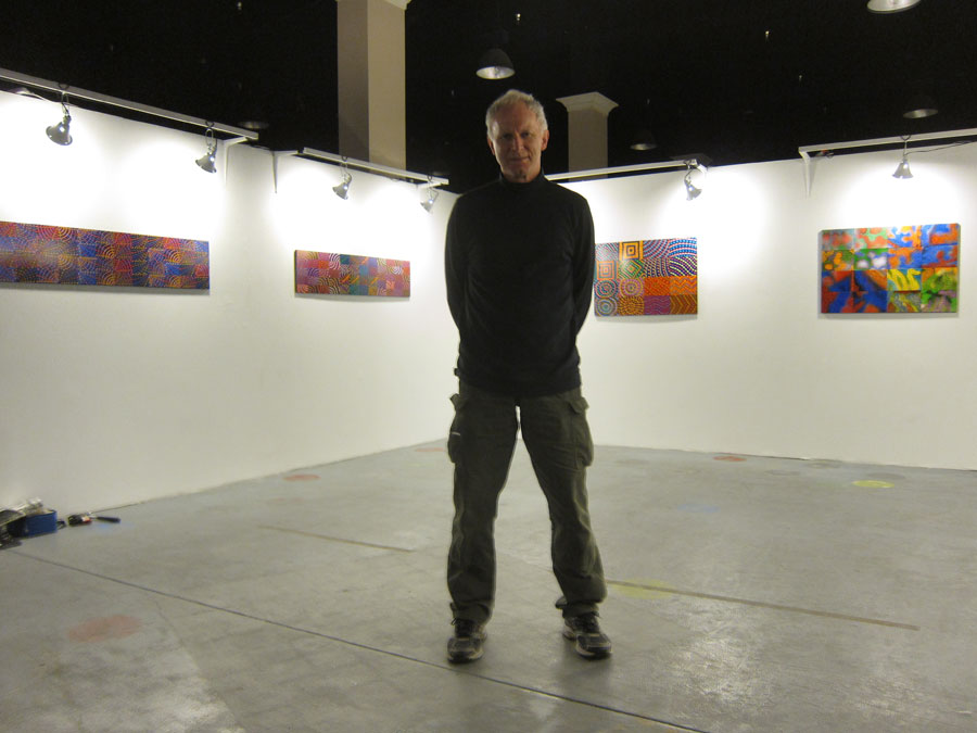 The first solo show art is up.